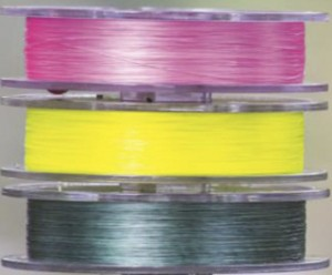 The three colours of GLISS currently available: pink, yellow and clear/white (translucent).