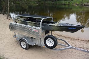 What a combo! The new Native Watercraft Ultimate on its Redtide Trailer.