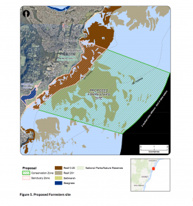 The sanctuary zone and fishing lock out planned for Forresters, north of Sydney, is especially unpopular. It would completely exclude anglers and spearfishers from an extensive stretch of coastline between Bateau Bay and Wamberal Lagoon.